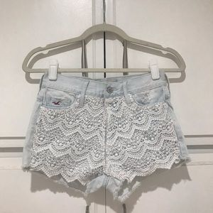 Hollister Lace Detail Shorts
